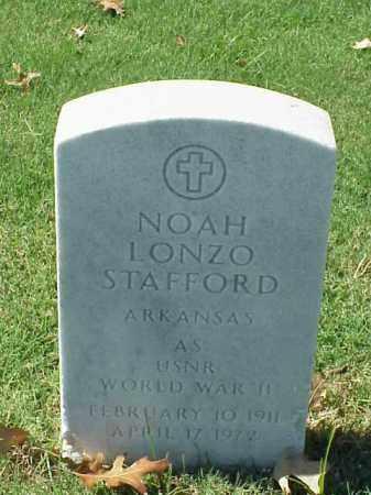 STAFFORD (VETERAN WWII), NOAH LONZO - Pulaski County, Arkansas   NOAH LONZO STAFFORD (VETERAN WWII) - Arkansas Gravestone Photos