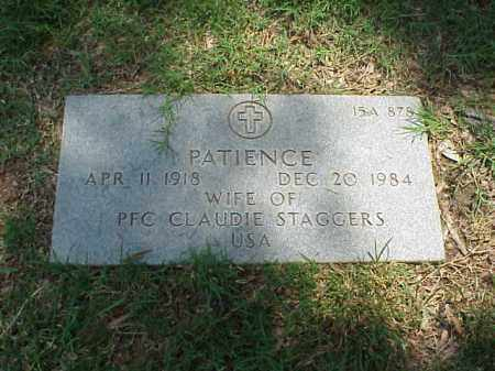 STAGGERS, PATIENCE - Pulaski County, Arkansas | PATIENCE STAGGERS - Arkansas Gravestone Photos