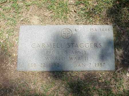 STAGGERS (VETERAN WWII), CARMELL - Pulaski County, Arkansas   CARMELL STAGGERS (VETERAN WWII) - Arkansas Gravestone Photos