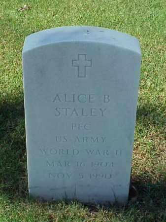 STALEY (VETERAN WWII), ALICE B - Pulaski County, Arkansas   ALICE B STALEY (VETERAN WWII) - Arkansas Gravestone Photos