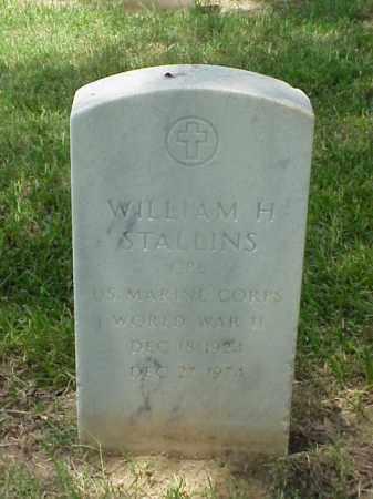 STALLINS (VETERAN WWII), WILLIAM H - Pulaski County, Arkansas | WILLIAM H STALLINS (VETERAN WWII) - Arkansas Gravestone Photos