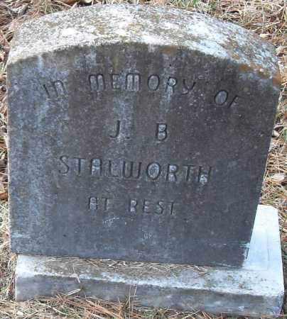 STALWORTH, J B - Pulaski County, Arkansas   J B STALWORTH - Arkansas Gravestone Photos