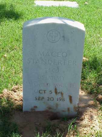 STANDERFER (VETERAN WWII), MACEO - Pulaski County, Arkansas   MACEO STANDERFER (VETERAN WWII) - Arkansas Gravestone Photos