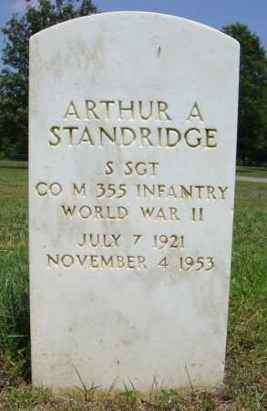STANDRIDGE (VETERAN WWII), ARTHUR A - Pulaski County, Arkansas   ARTHUR A STANDRIDGE (VETERAN WWII) - Arkansas Gravestone Photos