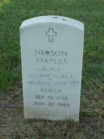 STAPLES (VETERAN 2 WARS), NELSON - Pulaski County, Arkansas | NELSON STAPLES (VETERAN 2 WARS) - Arkansas Gravestone Photos