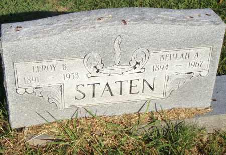 STATEN, BEULAH A. - Pulaski County, Arkansas | BEULAH A. STATEN - Arkansas Gravestone Photos