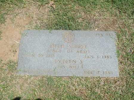 STEELE (VETERAN WWII), OLLIE - Pulaski County, Arkansas   OLLIE STEELE (VETERAN WWII) - Arkansas Gravestone Photos