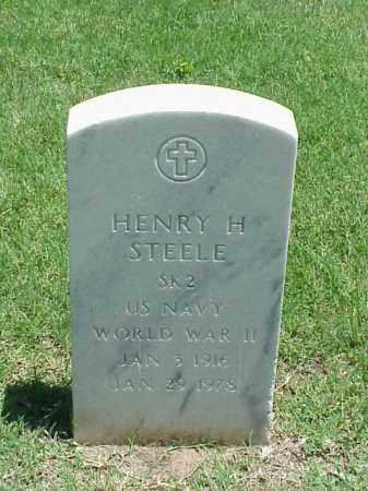 STEELE (VETERAN WWII), HENRY H - Pulaski County, Arkansas | HENRY H STEELE (VETERAN WWII) - Arkansas Gravestone Photos