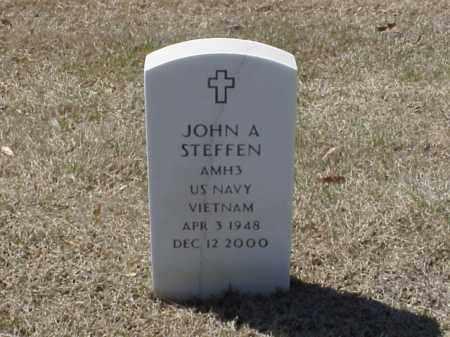 STEFFEN (VETERAN VIET), JOHN A - Pulaski County, Arkansas | JOHN A STEFFEN (VETERAN VIET) - Arkansas Gravestone Photos