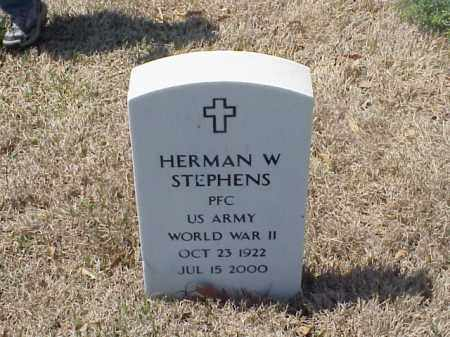 STEPHENS (VETERAN WWII), HERMAN W - Pulaski County, Arkansas | HERMAN W STEPHENS (VETERAN WWII) - Arkansas Gravestone Photos