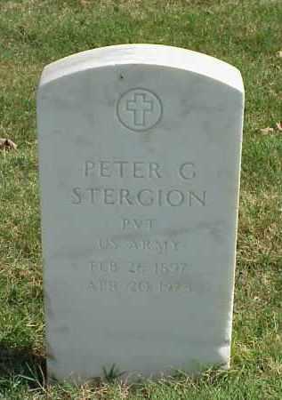 STERGION (VETERAN WWII), PETER G - Pulaski County, Arkansas | PETER G STERGION (VETERAN WWII) - Arkansas Gravestone Photos