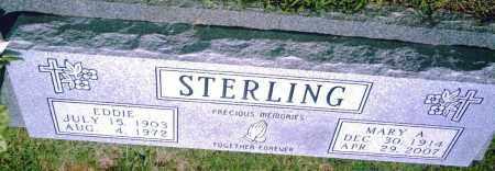 STERLING, EDDIE - Pulaski County, Arkansas   EDDIE STERLING - Arkansas Gravestone Photos