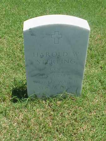STERLING (VETERAN WWII), HAROLD W - Pulaski County, Arkansas   HAROLD W STERLING (VETERAN WWII) - Arkansas Gravestone Photos