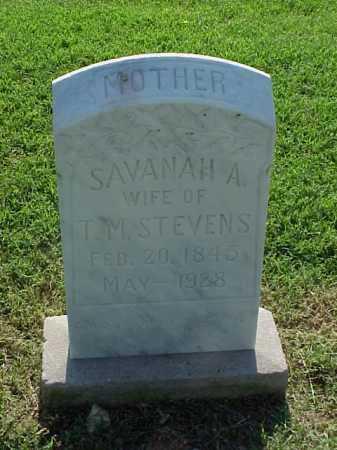 STEVENS, SAVANAH A - Pulaski County, Arkansas | SAVANAH A STEVENS - Arkansas Gravestone Photos