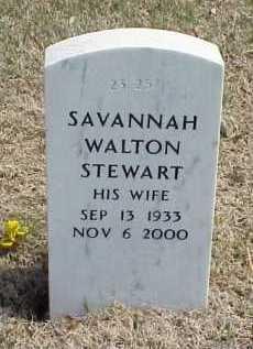 WALTON STEWART, SAVANNAH - Pulaski County, Arkansas | SAVANNAH WALTON STEWART - Arkansas Gravestone Photos