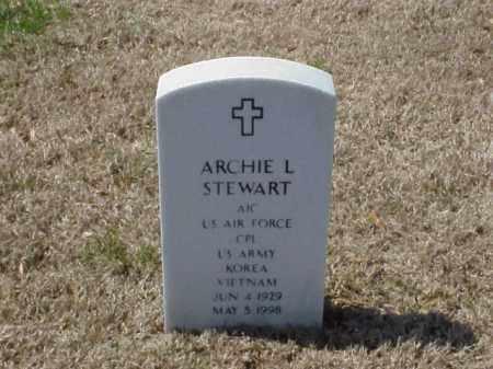 STEWART (VETERAN 2 WARS), ARCHIE L - Pulaski County, Arkansas   ARCHIE L STEWART (VETERAN 2 WARS) - Arkansas Gravestone Photos