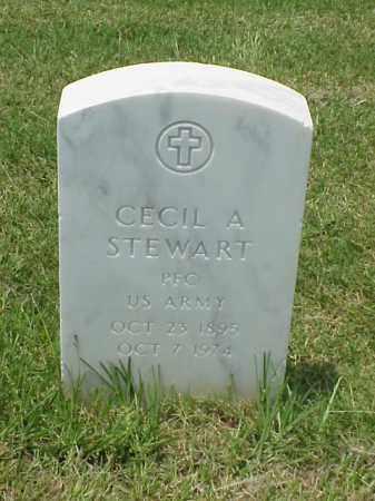 STEWART (VETERAN WWI), CECIL A - Pulaski County, Arkansas | CECIL A STEWART (VETERAN WWI) - Arkansas Gravestone Photos