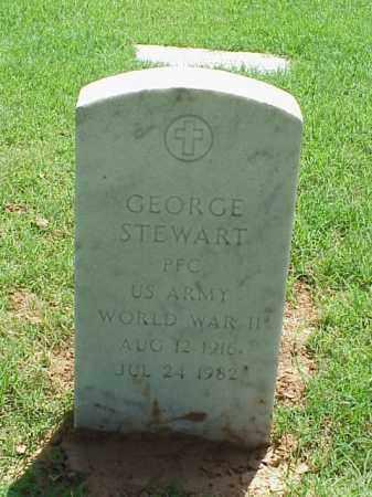 STEWART (VETERAN WWII), GEORGE - Pulaski County, Arkansas   GEORGE STEWART (VETERAN WWII) - Arkansas Gravestone Photos