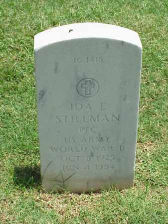 STILLMAN (VETERAN WWII), IDA E - Pulaski County, Arkansas | IDA E STILLMAN (VETERAN WWII) - Arkansas Gravestone Photos