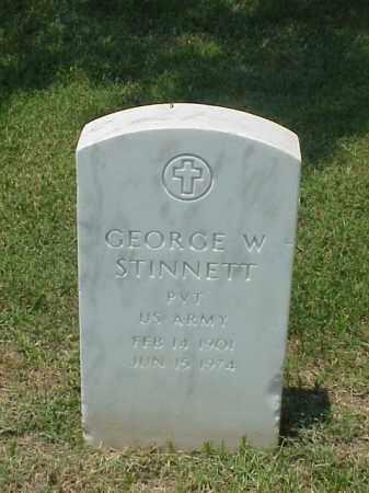 STINNETT (VETERAN WWII), GEORGE W - Pulaski County, Arkansas   GEORGE W STINNETT (VETERAN WWII) - Arkansas Gravestone Photos