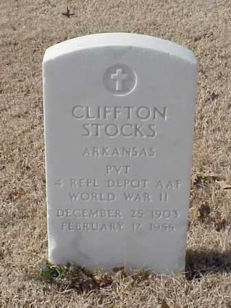 STOCKS (VETERAN WWII), CLIFFTON - Pulaski County, Arkansas | CLIFFTON STOCKS (VETERAN WWII) - Arkansas Gravestone Photos