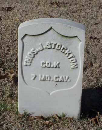 STOCKTON (VETERAN UNION), THOMAS J - Pulaski County, Arkansas | THOMAS J STOCKTON (VETERAN UNION) - Arkansas Gravestone Photos