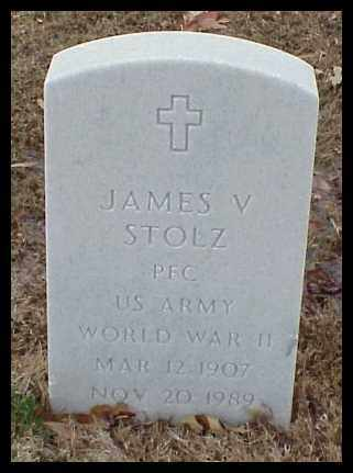 STOLZ (VETERAN WWII), JAMES V - Pulaski County, Arkansas | JAMES V STOLZ (VETERAN WWII) - Arkansas Gravestone Photos