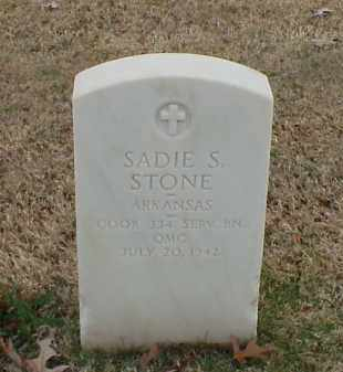 STONE (VETERAN WWI), SADIE S - Pulaski County, Arkansas   SADIE S STONE (VETERAN WWI) - Arkansas Gravestone Photos