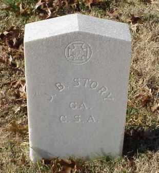 STORY (VETERAN CSA), J B - Pulaski County, Arkansas | J B STORY (VETERAN CSA) - Arkansas Gravestone Photos