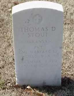 STOUT  (VETERAN WWII), THOMAS D - Pulaski County, Arkansas | THOMAS D STOUT  (VETERAN WWII) - Arkansas Gravestone Photos