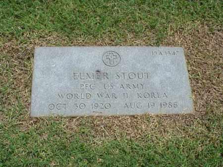 STOUT (VETERAN 2 WARS), ELMER - Pulaski County, Arkansas   ELMER STOUT (VETERAN 2 WARS) - Arkansas Gravestone Photos