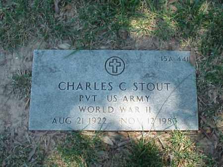 STOUT (VETERAN WWII), CHARLES C - Pulaski County, Arkansas | CHARLES C STOUT (VETERAN WWII) - Arkansas Gravestone Photos