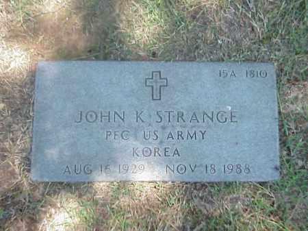 STRANGE (VETERAN KOR), JOHN K - Pulaski County, Arkansas | JOHN K STRANGE (VETERAN KOR) - Arkansas Gravestone Photos