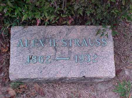 STRAUSS, ALEX H - Pulaski County, Arkansas | ALEX H STRAUSS - Arkansas Gravestone Photos