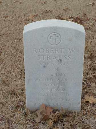 STRAUSS (VETERAN 3 WARS), ROBERT W - Pulaski County, Arkansas | ROBERT W STRAUSS (VETERAN 3 WARS) - Arkansas Gravestone Photos