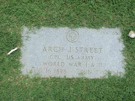 STREET (VETERAN 2 WARS), ARCH J - Pulaski County, Arkansas | ARCH J STREET (VETERAN 2 WARS) - Arkansas Gravestone Photos