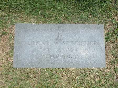 STREICHER (VETERAN WWII), HAROLD W - Pulaski County, Arkansas | HAROLD W STREICHER (VETERAN WWII) - Arkansas Gravestone Photos