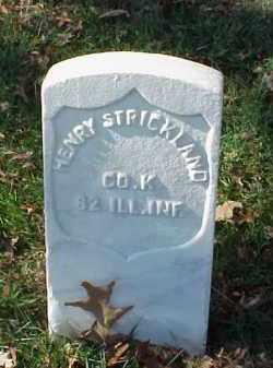 STRICKLAND (VETERAN UNION), HENRY - Pulaski County, Arkansas   HENRY STRICKLAND (VETERAN UNION) - Arkansas Gravestone Photos