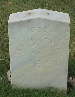 STRONG (VETERAN CSA), GEORGE M - Pulaski County, Arkansas | GEORGE M STRONG (VETERAN CSA) - Arkansas Gravestone Photos