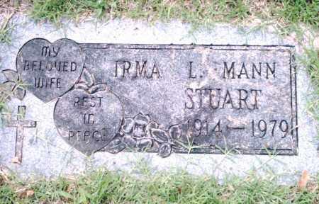 MANN STUART, IRMA L. - Pulaski County, Arkansas | IRMA L. MANN STUART - Arkansas Gravestone Photos