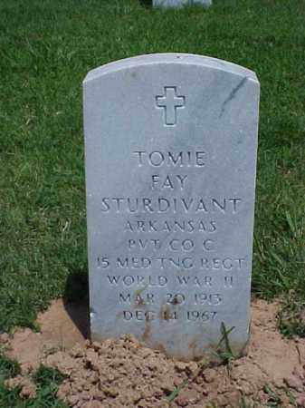 STURDIVANT (VETERAN WWII), TOMIE FAY - Pulaski County, Arkansas | TOMIE FAY STURDIVANT (VETERAN WWII) - Arkansas Gravestone Photos