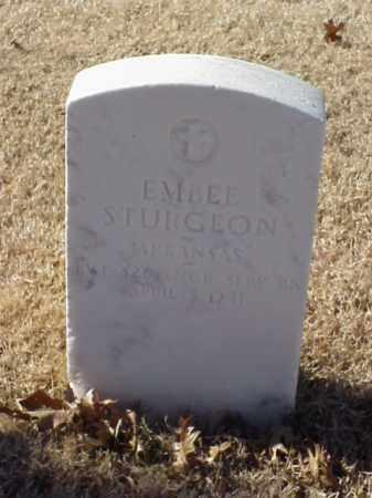 STURGEON (VETERAN WWI), EMBEE - Pulaski County, Arkansas | EMBEE STURGEON (VETERAN WWI) - Arkansas Gravestone Photos