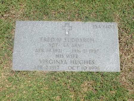SUDDARTH (VETERAN WWII), FRED M - Pulaski County, Arkansas | FRED M SUDDARTH (VETERAN WWII) - Arkansas Gravestone Photos