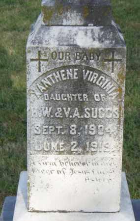 SUGGS, XANTHENE  VIRGINIA - Pulaski County, Arkansas | XANTHENE  VIRGINIA SUGGS - Arkansas Gravestone Photos