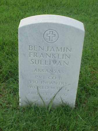 SULLIVAN (VETERAN WWI), BENJAMIN FRANKLIN - Pulaski County, Arkansas | BENJAMIN FRANKLIN SULLIVAN (VETERAN WWI) - Arkansas Gravestone Photos