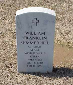SUMMERHILL (VETERAN 3 WARS), WILLIAM FRANKLIN - Pulaski County, Arkansas | WILLIAM FRANKLIN SUMMERHILL (VETERAN 3 WARS) - Arkansas Gravestone Photos