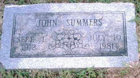 SUMMERS, JOHN - Pulaski County, Arkansas | JOHN SUMMERS - Arkansas Gravestone Photos