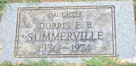 SUMMERVILLE, DORRIS  E. B. - Pulaski County, Arkansas   DORRIS  E. B. SUMMERVILLE - Arkansas Gravestone Photos