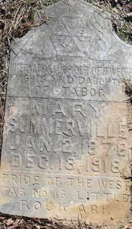 SUMMERVILLE, MARY - Pulaski County, Arkansas | MARY SUMMERVILLE - Arkansas Gravestone Photos
