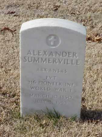 SUMMERVILLE (VETERAN WWI), ALEXANDER - Pulaski County, Arkansas | ALEXANDER SUMMERVILLE (VETERAN WWI) - Arkansas Gravestone Photos